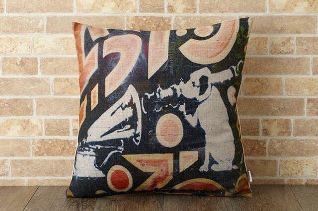 クッションカバー 45×45cm Banksy 犬 ビクタードッグ jubileecushionba012の画像1枚目
