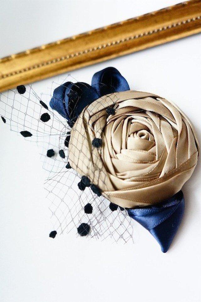 ローズヘッドドレスs/gold(全5色)の画像1枚目
