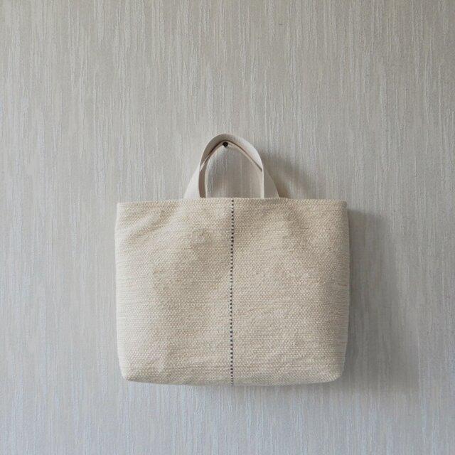 裂き織りのバッグ バニラ LLの画像1枚目