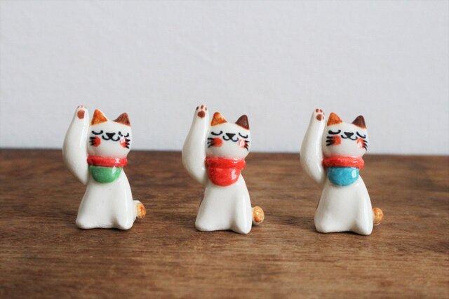 小さな招き猫 ( 前掛け )の画像1枚目