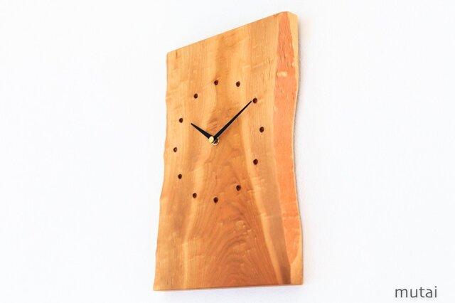サクラの耳付き板の時計 2の画像1枚目