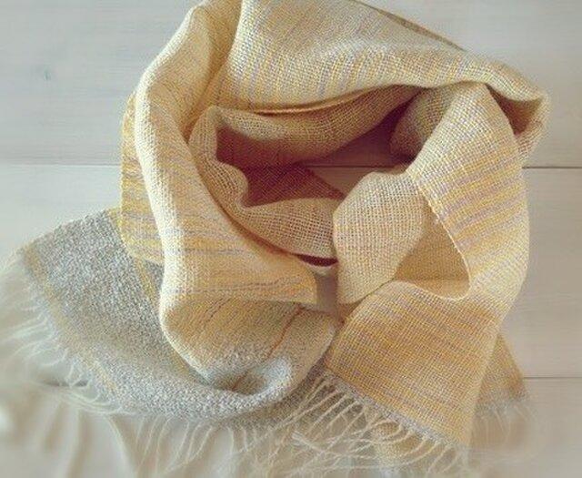 手織り・手染め リトアニアリネンのストールの画像1枚目