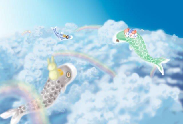 空とこいのぼりのポストカード【2枚組】の画像1枚目