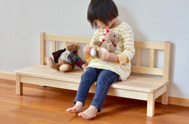 メープルの子供用ベンチの画像1枚目