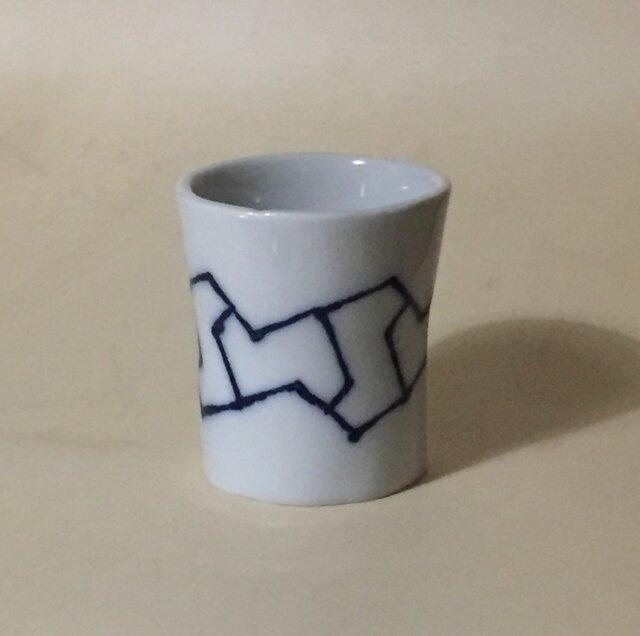 Z045 磁器染付酒杯(筒杯、ショットカップ)の画像1枚目