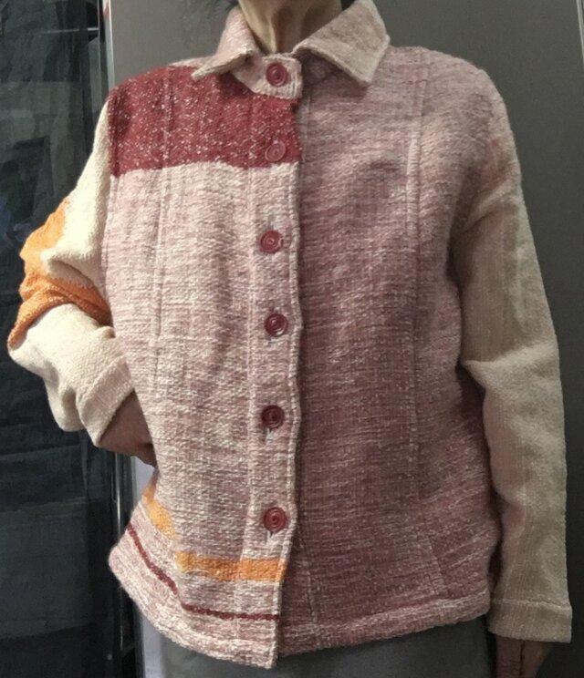さをり織り素敵 シャツ ジャケット 送料無料の画像1枚目