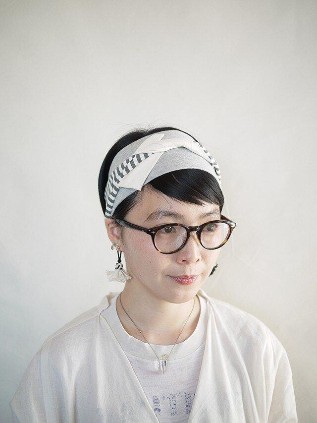 patchwork turban (cotton×linen mix 17ss-d)の画像1枚目