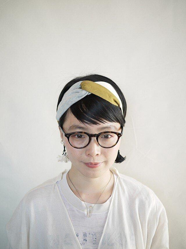 patchwork turban (cotton×linen mix 17ss-f)の画像1枚目
