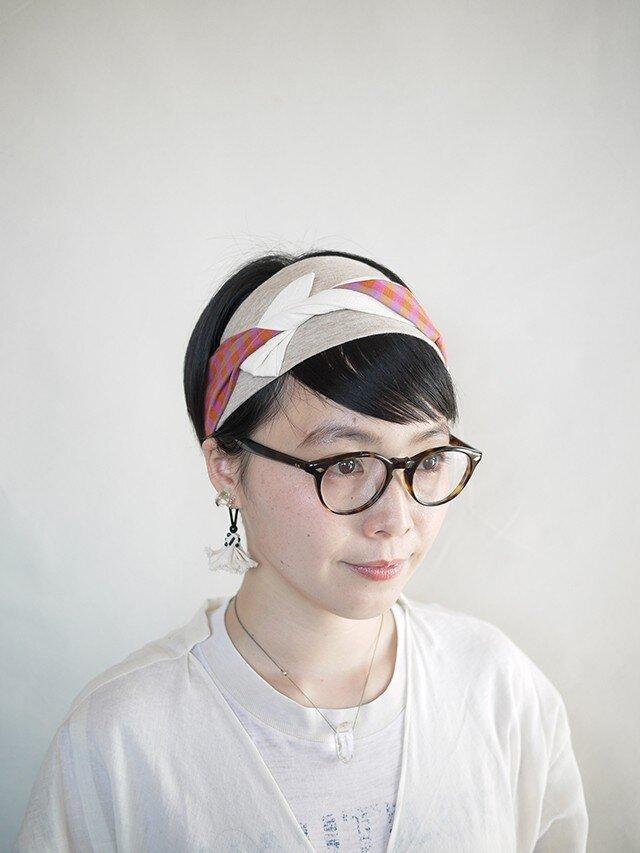 patchwork turban (cotton×linen mix 17ss-c)の画像1枚目