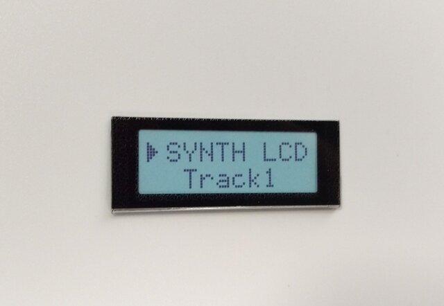 【ネームプレート】液晶LCD・ネームプレート/ホワイトの画像1枚目