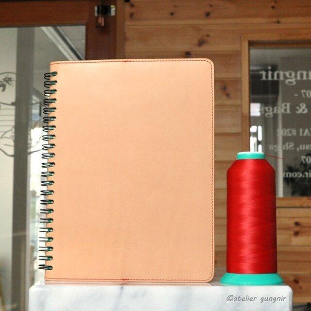 Rollbahnリング手帳カバーA A5サイズ No.2 イタリアンレザーの画像1枚目