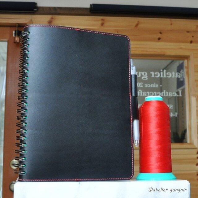 Rollbahnリング手帳カバーA A5サイズ No.3 イタリアンレザーの画像1枚目