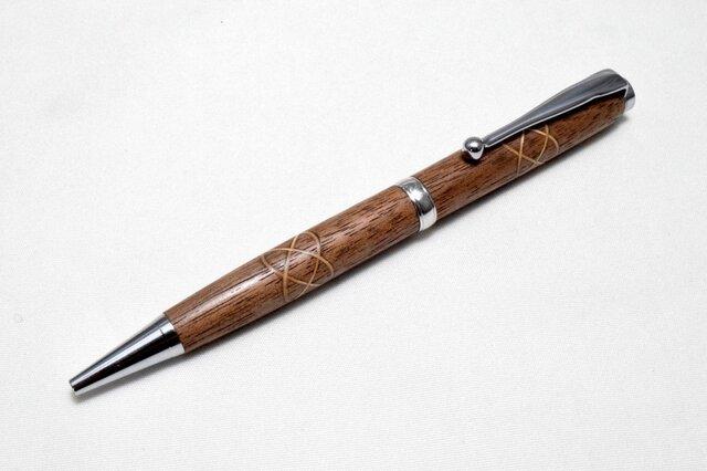 【ケルトノット】手作り木製ボールペン スリムライン CROSS替芯の画像1枚目