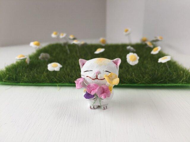 「大好きだよ!」花束猫さんの画像1枚目