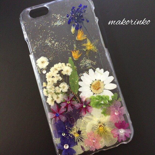 イングリッシュガーデン iPhone6押し花ケースの画像1枚目