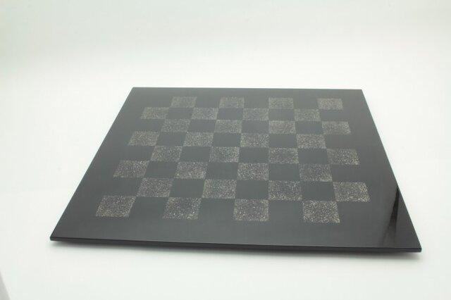 漆のチェス盤 錫市松の画像1枚目