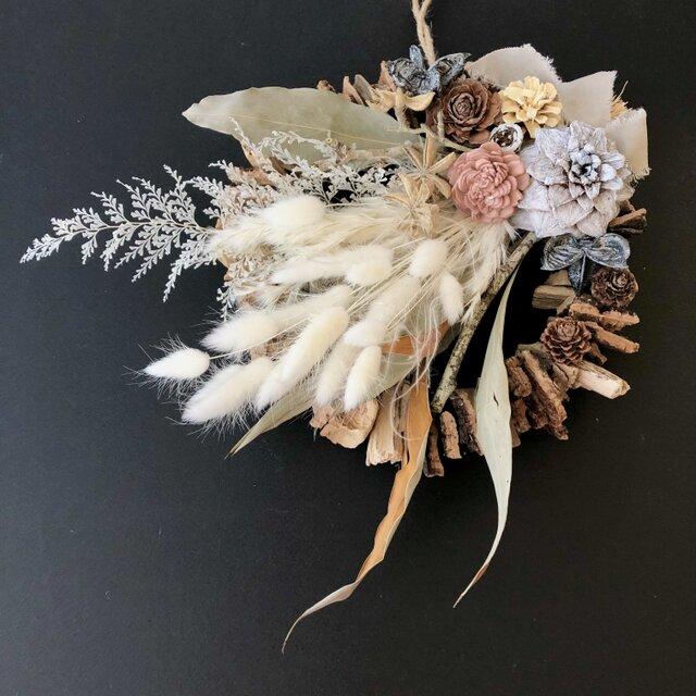 Dryflower natural wreath IIの画像1枚目