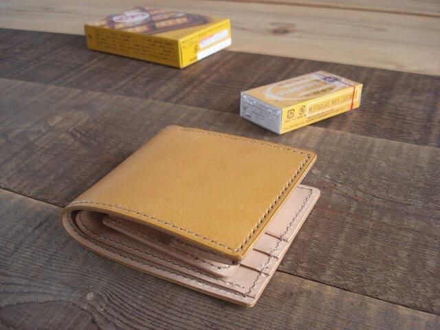二つ折り財布 box-b イエロー【受注製作】の画像1枚目