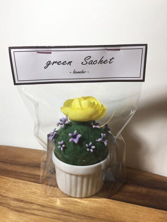インテリアサシェ ラベンダー 黄色の花の画像1枚目