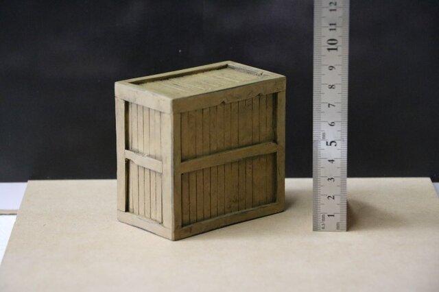 022 木箱大 立て置き エージング塗装の画像1枚目