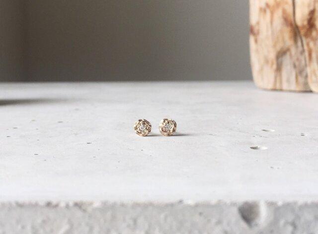 Seed pierced earring Diamond K10goldの画像1枚目
