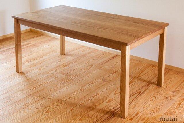 ナラのダイニングテーブルの画像1枚目