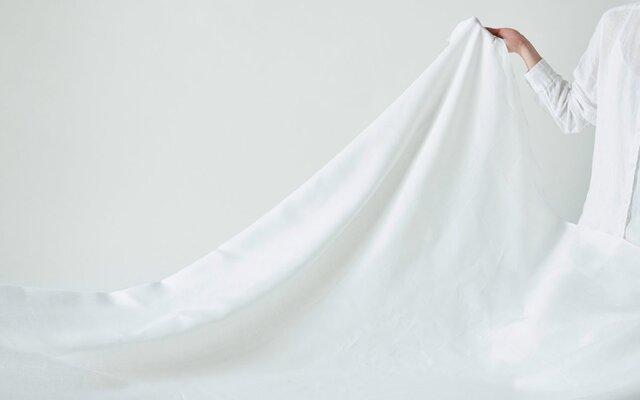 【6月10日頃お届け】日本の織りのリネン100%シーツ(フラットシーツ)の画像1枚目