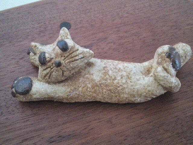 ばんざ~い猫の箸置きの画像1枚目
