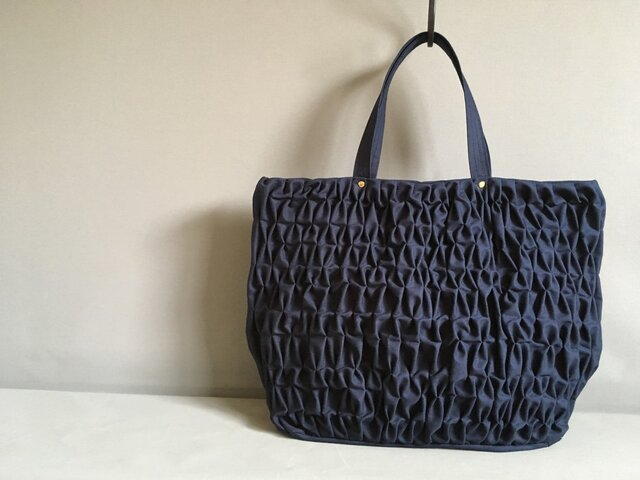 Smocking tote bag【M】の画像1枚目