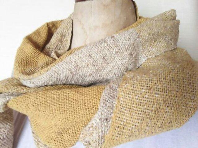 上質シルク 手織りストール 338の画像1枚目