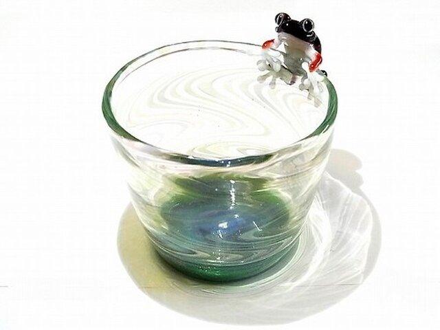 Frog Glass カップ【kengtaro/ケンタロー】 カエル ボロシリケイトガラスの画像1枚目