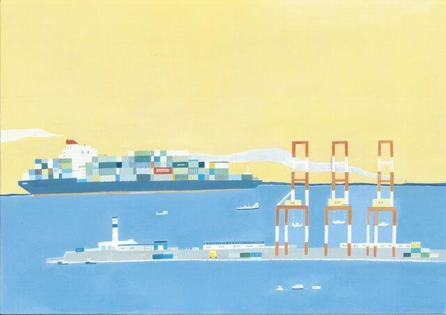 夕暮れの港の画像1枚目