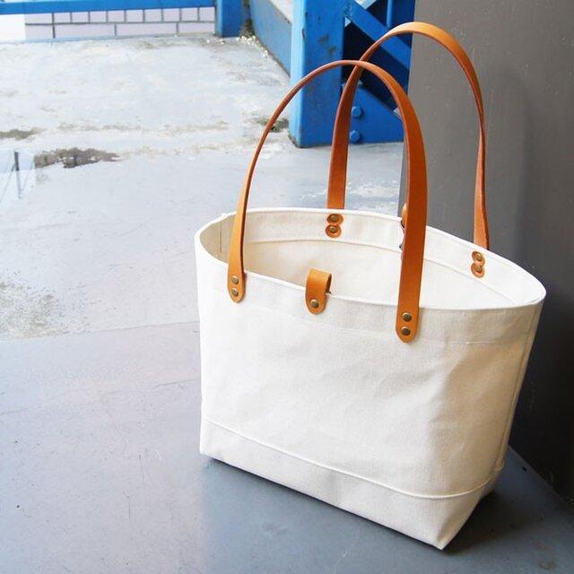 たっぷり容量6号帆布のトートバッグ~生成(尾道帆布)~の画像1枚目