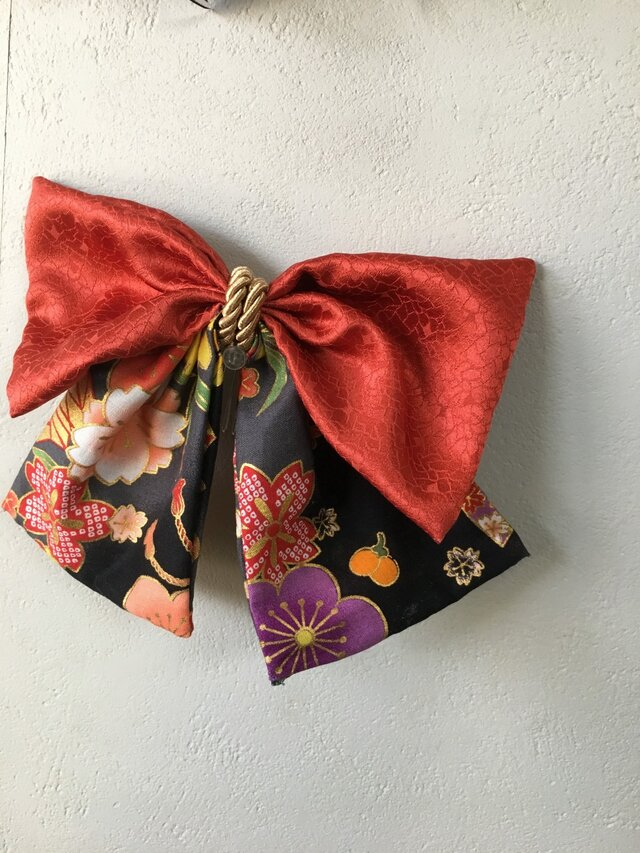 和柄布のはいからさんリボン【髪飾り】卒業式、謝恩会にの画像1枚目
