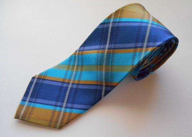 ネクタイ タータンチェック  シルク(絹)100%の画像1枚目