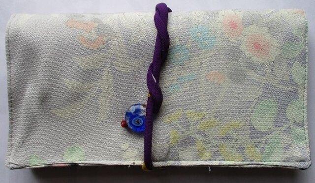 送料無料 花柄の訪問着で作った和風財布・ポーチ 2503の画像1枚目