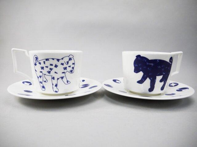 Shiba Dog Pair Tea Cup&Saucer 柴犬ティーカップ&ソーサーペアセットの画像1枚目