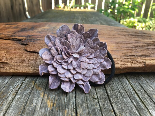 革花のヘアゴム 2Lサイズ 薄紫の画像1枚目