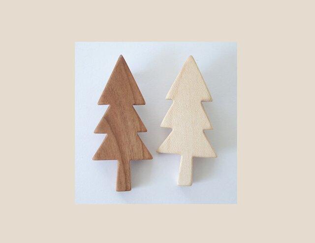 ブローチ もみの木(2個セット)  の画像1枚目