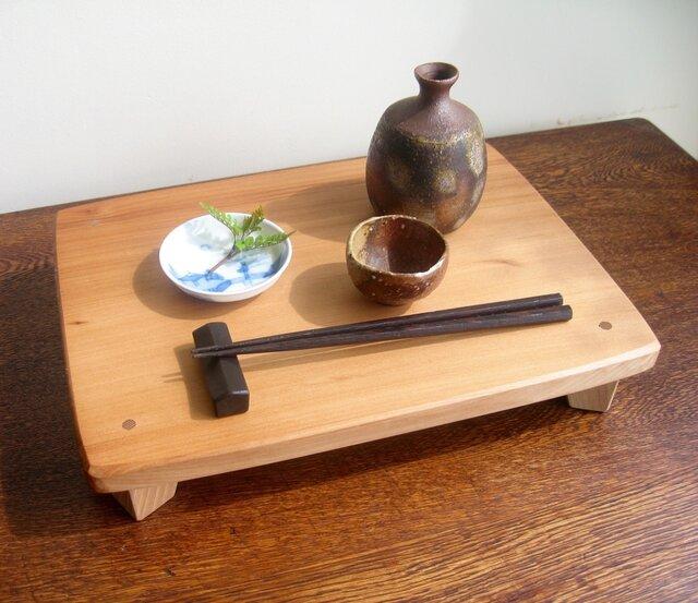 グラスや小皿を置くミニテーブル・・Rさまオーダー品の画像1枚目
