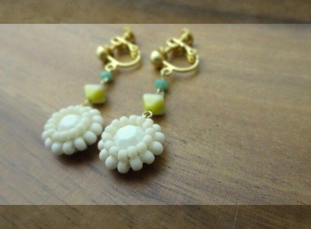 swarovski vintage a pierce・earringの画像1枚目