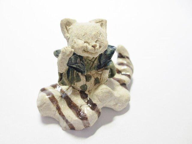 くものり縁起物 -しろ招き猫- の画像1枚目