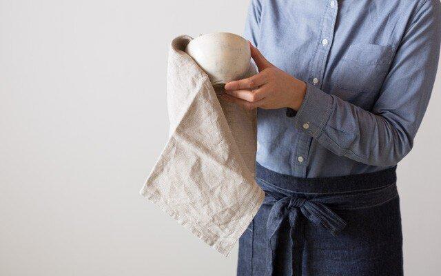 日本の職人が織るリネンキッチンクロス(全10色)の画像1枚目
