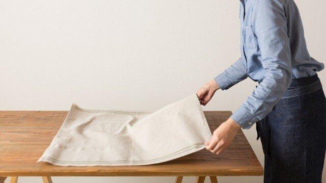日本の職人が織るリネンマルチクロス 65×65cm(全10色)【サイズオーダー可】の画像1枚目
