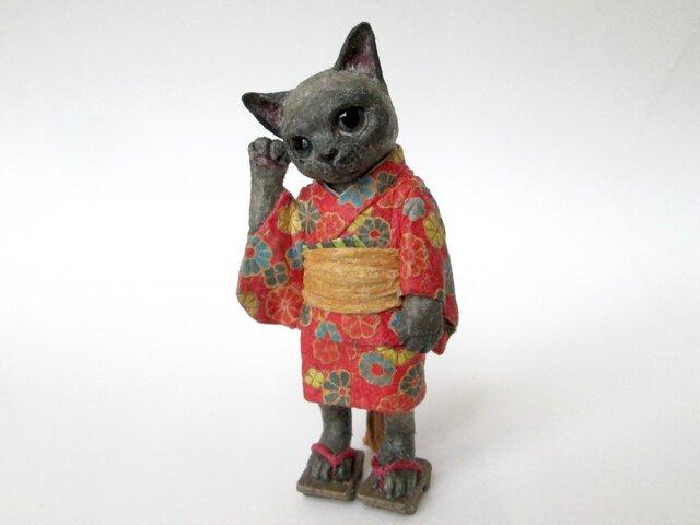 紙のいきもの 和ノ猫 ミニチュアの画像1枚目