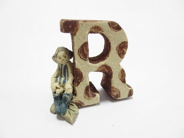R(水玉)【ちびアルファベット】 の画像1枚目