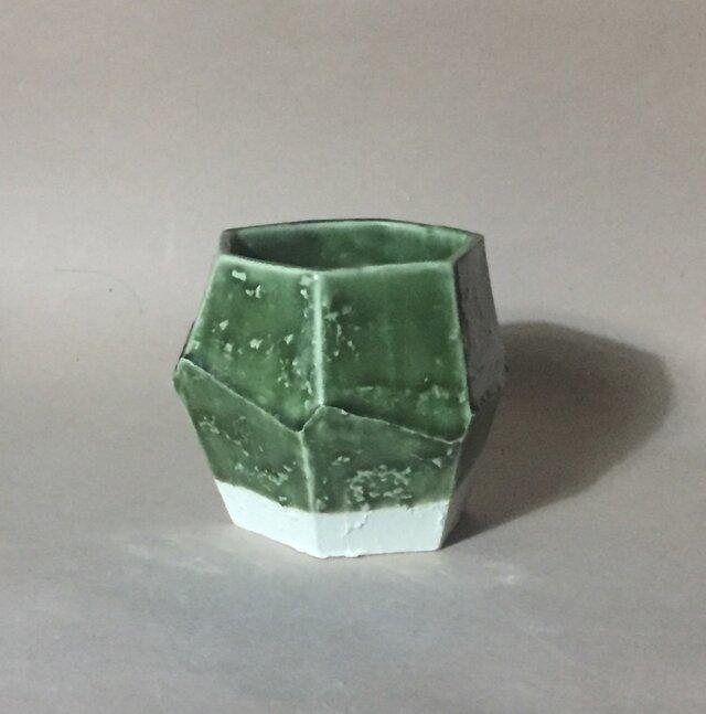 T041 緑釉面取酒杯の画像1枚目