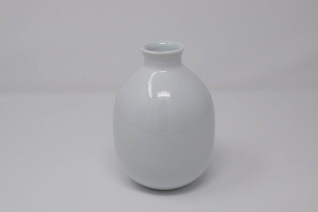 有田焼 博泉窯 白磁一輪差 中村慎 作 手造り シンプル きれいな白磁 贈り物 ギフト 花瓶の画像1枚目