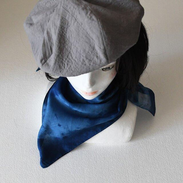 本藍染スカーフ No.1の画像1枚目