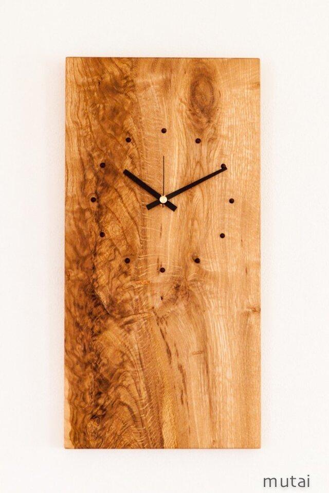 壁掛け時計 ナラ四角の画像1枚目